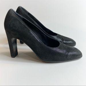 Robert Clergerie PARIS Black Shimmer Heels